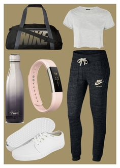 """""""14"""" by li-gasparyan-m on Polyvore featuring мода, NIKE, Topshop, Vans, S'well и Fitbit"""
