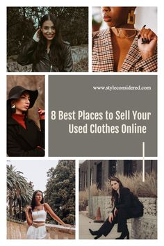 Do you want to sell some of your old clothes online for money, but don't know where to sell it? Well, this is where my guide comes in handy. I have gathered my 8 favorite places where you can sell used clothes. All of them are easy to use and there is something for everyone whether you are looking for a place to sell you used designer clothes or an old no-brand dress. Fast Fashion, Slow Fashion, Women's Fashion, Sustainable Living, Sustainable Fashion, Selling Used Clothes Online, Where To Sell, Eco Friendly Fashion, Best Blogs