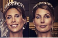 the marriage of Madeleine of Sweden: tiaras sisters