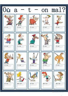 Learn French Worksheets Free Printable Printing Education For Kids Printer French Language Lessons, French Language Learning, French Lessons, English Language, French Expressions, French Teaching Resources, Teaching French, How To Speak French, Learn French