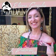 Acessórios fantásticos é só na Madame Biá Acessórios! A Poderosa Eliane Gonçales está se sentindo uma verdadeira diva na loja!!!