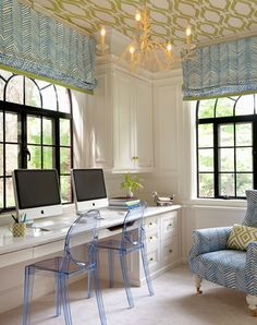 design for bedroom - Home and Garden Design Ideas office. Traditional Home Office Design Ideas, Pictures, Remodel and Decor Suppose Design Office, Wallpaper Ceiling, Office Wallpaper, Green Wallpaper, Funky Wallpaper, Trellis Wallpaper, Windows Wallpaper, Unique Wallpaper, Beautiful Wallpaper