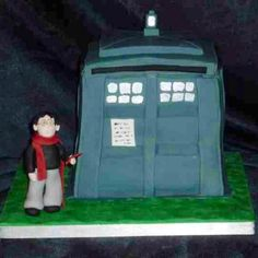 Harry Potter and Dr Who's Tardis...artistic licence and a little boys favourite characters :) by Eva-Rose Cakes