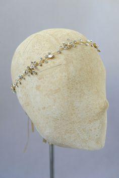 crystal hair vine, wedding headpiece, bridal headband, twigs and honey