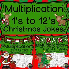 Multiplication Fact Practice (1's to 12's) with Christmas Jokes- Bundle! Your…