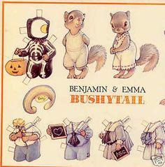 halloween paper dolls   MINT-CUTE-SQUIRRELS-HALLOWEEN-PAPER-DOLLS-COSTUMES-POSTCARD-WITCH ...