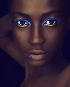 So jealous of gorgeous dark skin tones, like this one, that can wear bright, beautiful colors like these! Make up