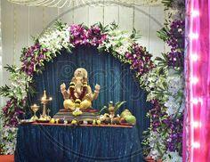 Ganpati Decoration Design, Ganapati Decoration, Ganesh Idol