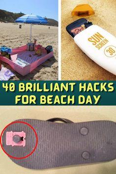 #Brilliant #Hacks #Beach #Hacks #Tips #Tricks #Ways #Ideas #Uses #LifeHacks #Solutions #Nifty Fix Flip Flops, Beach Fun, Beach Ideas, Beach Hacks, Pretty Prom Dresses, Oval Nails, Couple Shirts, Birthday Decorations, Cute Couples