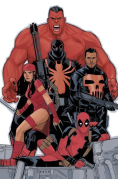 THUNDERBOLTS   This is the first image I drew of the Thunderbolts team. It's now going to be released as the Issue #7 variant cover.