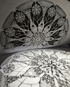 Japanese artist Mr. Riu creates detailed papercuts of extraordinary complexity that are all cut entirely by hand using a craft knife. His works are mostly concentrated around intricate mandalas and delicate patterns created using a zentangle technique.