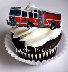 Fire Truck  HD Tasty Print  Edible Images for Cakes by TastyPrints, $10.99