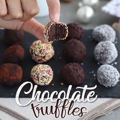 Dark chocolate truffles Truffles are a timeless dessert combining chocolate + whipping cream + butter. This simple recipe is completely homemade and incredibly easy. But don´t underestimate this dessert, done correctly, truffles can be just mind blowing!