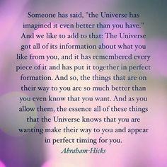 "I exchange the word Universe with ""God"""