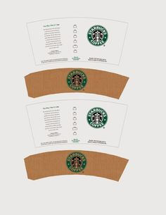 DIY #Starbucks miniature printable - How To Make Coffee Cup Drink - Polymer clay tutorial, miniature food scale 1:2