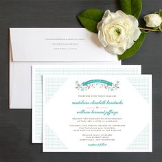 Country Dot Wedding Invitations by Elli
