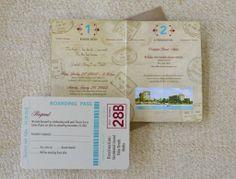 Jourdan's Favorite Passport Wedding Invitations