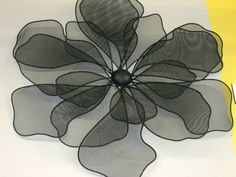 Black Wire Flowers for the wall! aprx w Wire Flowers, Wall, Black, Black People, Walls