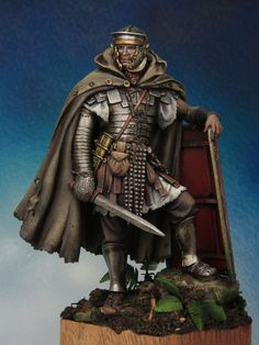 Andrea miniatures - Roman legionaire IIc painted by Kirill Kanaev. Military Figures, Military Diorama, Ancient Rome, Ancient History, Roman Warriors, Celtic Warriors, Roman Armor, Art Antique, Roman Soldiers