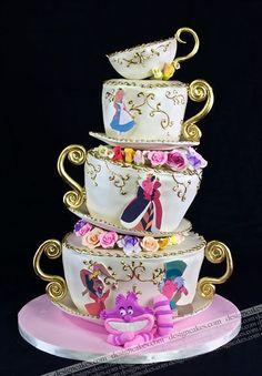 Alice in Wonderland design theme cake