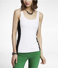 Fitted Color Block Tank | Express