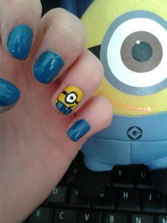 Despicable me nails, my absolute faves!