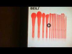 BEILI Premium 15 pcs Synthetic Makeup brushes Set Coral Nano Hair Founda... Face Contouring, Powder Foundation, Makeup Brush Set, Brushes, Triangle, Coral, Hair, Set Of Makeup Brushes, Blush