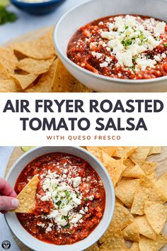 Roasted Salsa Recipe, Roasted Tomato Salsa, Roasted Tomatoes, Mexican Food Recipes, Vegetarian Recipes, Dinner Recipes, Cooking Recipes, Healthy Recipes, Air Fryer Oven Recipes