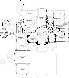 Caserta House Plan First Floor Plan