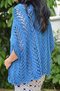 The Azure Thing Cardigan. Smaller sizes look great worn upside down! All-over chunky lace. Beautiful for summer.