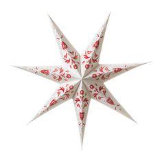 STRÅLA Leuchtenschirm, Kurbitsmalerei weiß, rot Kurbitsmalerei weiß/rot 70 cm