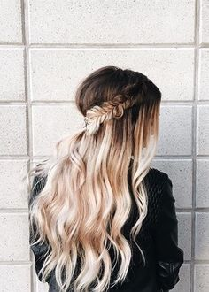 Brown Side Braid With Blonde Ombre Side Braid Hairstyles, Pretty Hairstyles, Hairstyle Ideas, Hair Game, Good Hair Day, Ombre Hair, Blonde Ombre, Blonde Color, Bridesmaid Hair
