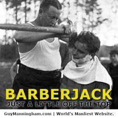 No one messes around at Guy Manningham's barber. http://guymanningham.com