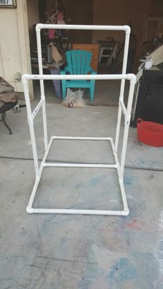 DIY PVC gymnastics bar for my daughter. So easy and cheaper than buying one.