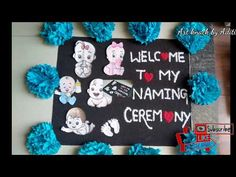 Baby Name Decorations, Baby Shower Balloon Decorations, Baby Shower Balloons, Baby Decor, Flower Decorations, Welcome Rangoli, Cradle Decoration, Naming Ceremony Decoration, Indian Baby Showers