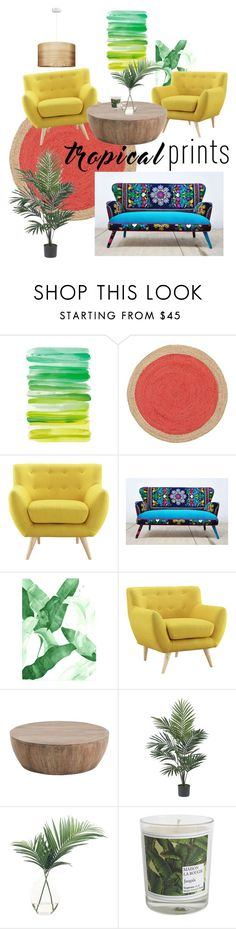 """""""Come On Down to Florida, I Got Somethin For Ya"""" by sarah-coy-1 ❤ liked on Polyvore featuring interior, interiors, interior design, home, home decor, interior decorating, Arteriors, Nearly Natural, NDI and Maison La Bougie"""