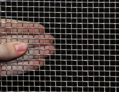"""4 Mesh Stainless Steel .047"""" Wire Dia. 48 Inches Wide Fence Gate, Fences, Product Support, Wire Mesh, Raised Beds, Gauges, Rings For Men, Yard, Stainless Steel"""