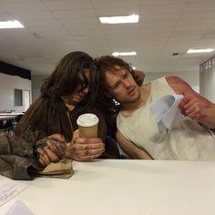 Outlander Premiere, Outlander Season 4, Sam Heughan Outlander, Outlander Tv, Laura Donnelly, Starz Series, Horror House, Sam And Cait