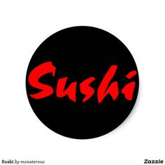 Sushi Classic Round Sticker #Sushi #Fish #Japanese #Asia #Asian #Sticker