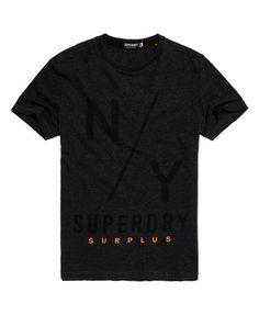 Superdry Surplus Goods T-shirt met grafische opdruk Donkergrijs