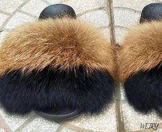 Summer multicoloured Fox Fur Slippers Real Fur Slides Female Indoor Fl – slipper&sandal wholesale Slipper Sandals, Fur Slides, Fox Fur, Fashion Shoes, Plush, Slippers, Indoor, Flat, Female