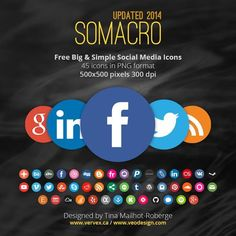 An ultimate collection of more than free social media icon sets for your websites. This post contains many categories of free social icons. Social Media Icons, Social Media Site, Social Networks, Social Media Marketing, Digital Marketing, Classroom Websites, Web Design, Graphic Design, Most Popular Social Media
