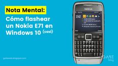 Nota Mental: Cómo flashear un Nokia E71 en Windows 10 (o casi) #nokiae71 #nokia #e71 #symbian #retro #howto #flash #software #firmware #smartphones #classics #windows10 #windowsxp Windows Xp, Software Apps, Flash, Retro, Phone, Note, Telephone, Neo Traditional, Mobile Phones