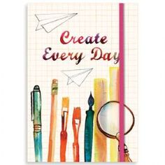 Create every day journal, pages are full colour throughout and are a mixture of lined, grid, and some content, such as checklists