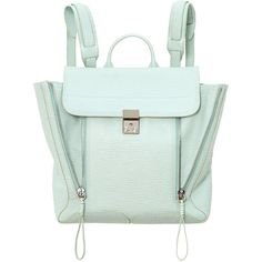 3.1 Phillip Lim Pashli Backpack (£580) ❤ liked on Polyvore featuring bags, backpacks, backpack, expandable backpack, backpacks bags, real leather backpack, zipper bag and leather zip backpack