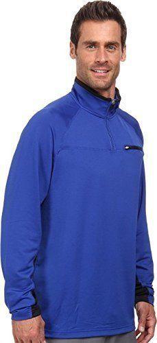 Fila Mens 1/4 Zip Pullover Sweatshirt Running Jacket Black / Blue Sz Medium NEW #Fila #CoatsJackets