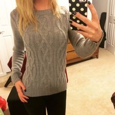 Grey Knit Sweater Adorable grey knit sweater. Warm and comfy. Never worn and in brand new condition. Tag says size XS. But this fits very loosely and could fit an XS or Small. UNIQLO Sweaters