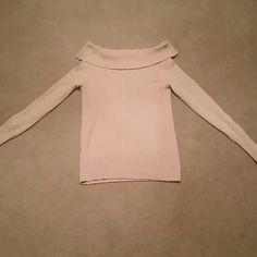 Long Sleeve Sweater L. Tan sweater, I wear as a dress, top part folds down to hang off shoulders. Moda International Sweaters Crew & Scoop Necks