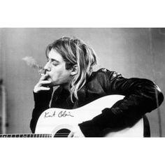 Kurt Cobain Smoking Poster Print (24 X 36)