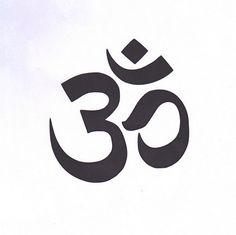 Yoga Om Stencil, Sanskrit Om, Ohm, Yoga Stencil, Mylar Stencil, Om Symbol, Painting Stencil, mantra, pochoir, reusable stencil, art supply